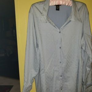 Blue Lane Bryant Button Down Collared Shirt